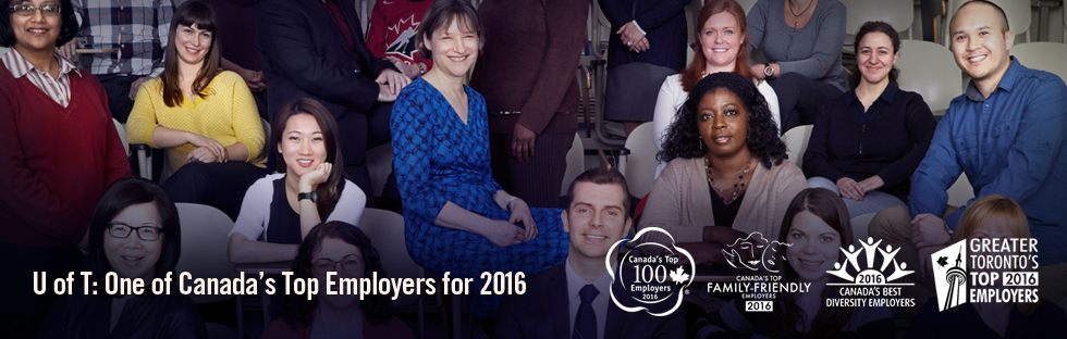 U of T: One of Canada's Top Employers for 2016